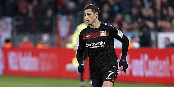 Zurück in Bayers Startelf: Chicharito.