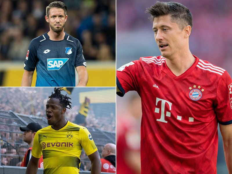 Mark Uth, Michy Batshuayi, Robert Lewandowski