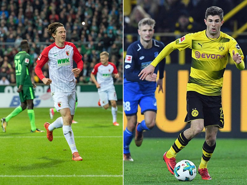 Michael Gregoritsch (l.) und Christian Pulisic