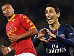 Julio Baptista und Angel di Maria (re.)