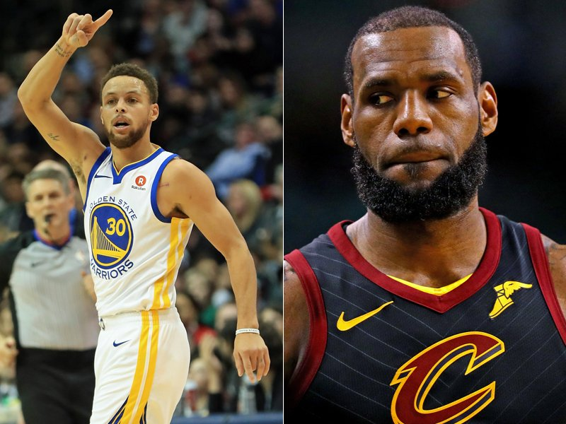 Stephen Curry und LeBron James