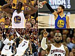 Draymond Green, Stephen Curry, Kyrie Irving und LeBron James