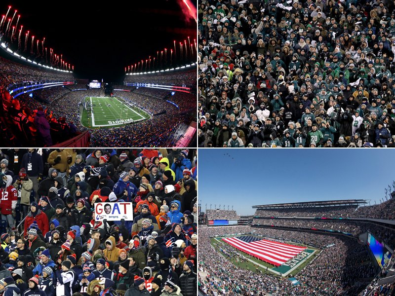 Die Stadien in den Conference Championships der NFL: das Lincoln Financial Field und das Gillette Stadium