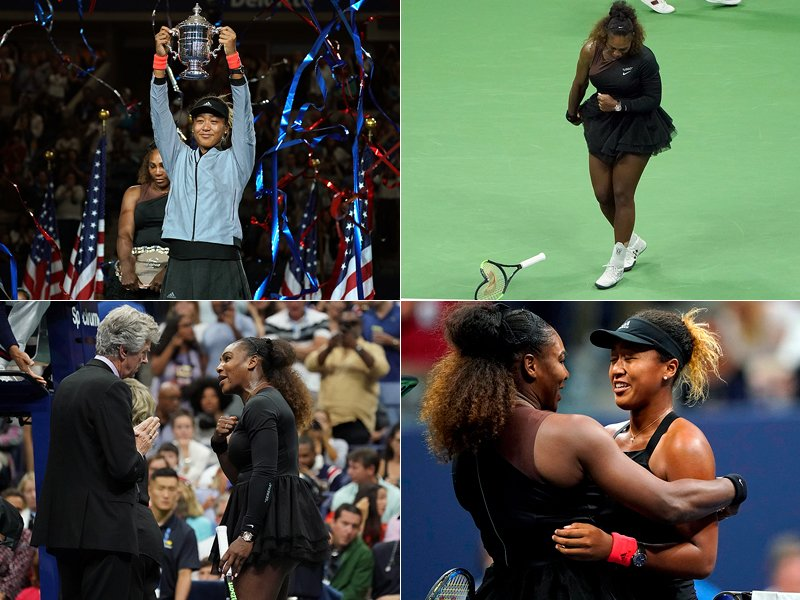 Naomi Osaka und Serena Williams